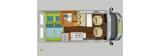 Hymercar Campervan Free 600 Campus layout