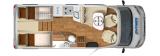Hymer Tramp SL 568 layout