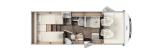 Carado I447 mit Einzelbetten und Garage layout