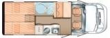 Carado T337 mit Einzelbetten und Garage layout