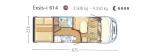 Hymer Exsis I614 mit Garage layout