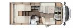 Carado T338 mit Einzelbetten und Garage mit Clever Paket layout