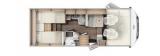 Carado I338 mit Einzelbetten und Garage Clever Paket layout