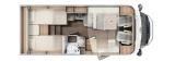Carado T338 mit Einzelbetten und Garage layout