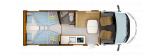 Rapido C55 mit Einzelbetten und Garage layout