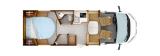 Rapido C86 mit Queensbett und Garage layout