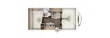 Carado A132 mit Heckquerbett und Garage layout