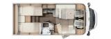 Carado T338 mit Einzelbetten und Garage Clever+ layout
