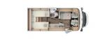 Carado Van 337 Europa Edition mit Einzelbetten und Garage layout