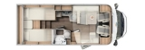 Carado T338 mit Einzelbetten und Garage Clever Edition + layout