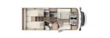 Carado T447 mit Einzelbetten und Garage Clever layout