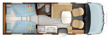 Rapido 855F mit Einzelbetten und Garage 2022 layout