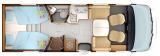 Rapido 8066DF mit Einzelbetten und Garage Edition 60 2022 layout