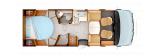 Rapido 8086DF mit Queensbett und Garage layout