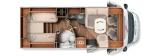 Carthago Tourer T148 mit Einzelbettten und Garage layout