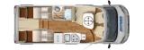Hymer T474 Exsis Facelift mit Einzelbetten layout