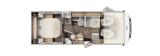 Carado I449 mit Queensbett und Garage layout