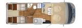 Hymer B DL 574 mit Einzelbetten und Garage layout