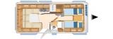 Eriba Nova 530 SL layout