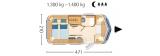 Eriba Troll 530 layout