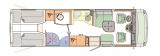 Concorde Carver 840L mit Garage layout