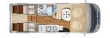 Hymer MLI 570 mit Einbetten und Garage layout