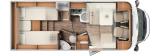 Carado T447 mit Einzelbetten und Garage layout