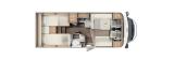 Carado T448 mit Einzelbetten und Garage layout
