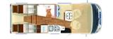 Hymer BMC I 580 mit Einzelbetten und Garage layout