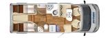 Hymer TGL 578 Ambition mit Einzelbetten und Garage layout