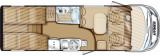 Hymer Exsis Facelift I678 mit Einzelbetten und Garage layout