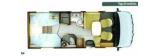 Rapido 855F mit Einzelbetten und Garage layout