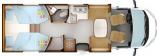 Rapido 666 mit Einzelbetten und Garage layout