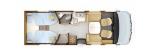 Rapido 866F mit Einzelbetten und Garage layout