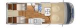 Hymer Exsis T 588 mit Einzelbetten und Halbgarage layout