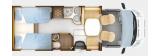 Rapdio 766dF mit Einzelbetten und Garage layout