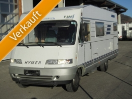 Hymber B644 mit Querbett und Garage