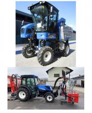 New Holland Braud 9070LTraubenvollernter + ERO Entlauber Viti Puls 470