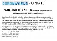 Coronavirus WIR SIND FÜR SIE DA - Werkstätte geöffnet