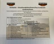 Wir suchen Verstärkung - Bereich Verkauf Landmaschinen